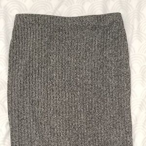 F21 Grey midi bodycon skirt